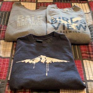 3 XL crew sweatshirts